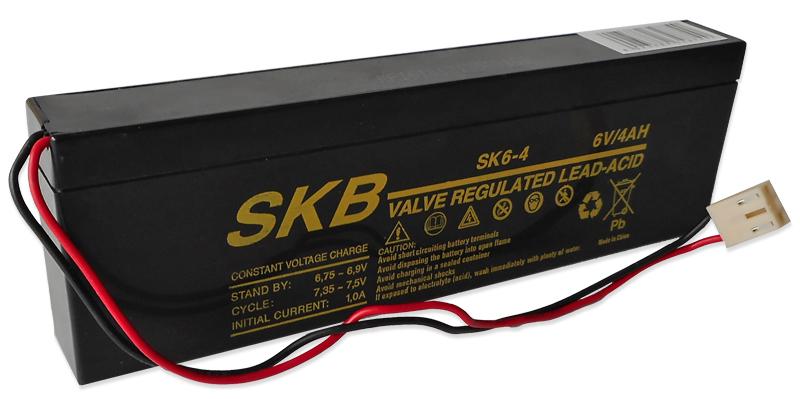 Bateria Chumbo 6V 4Ah c/ Conector Molex (195 x 25 x 62 mm) - SKB