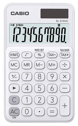 Calculadora de Bolso 10 Digitos (Branco) - CASIO