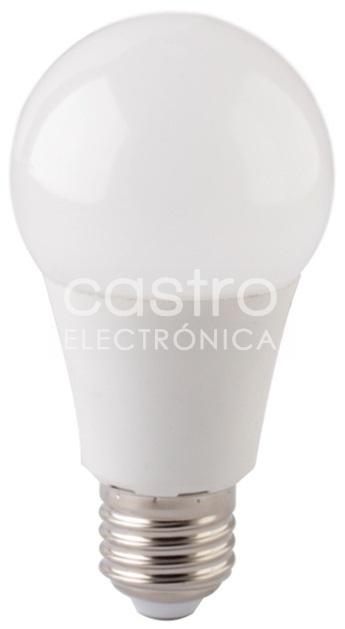 Lampada LED E27 A60 220V 10W Branco F. 6000K 800Lm - Dimável