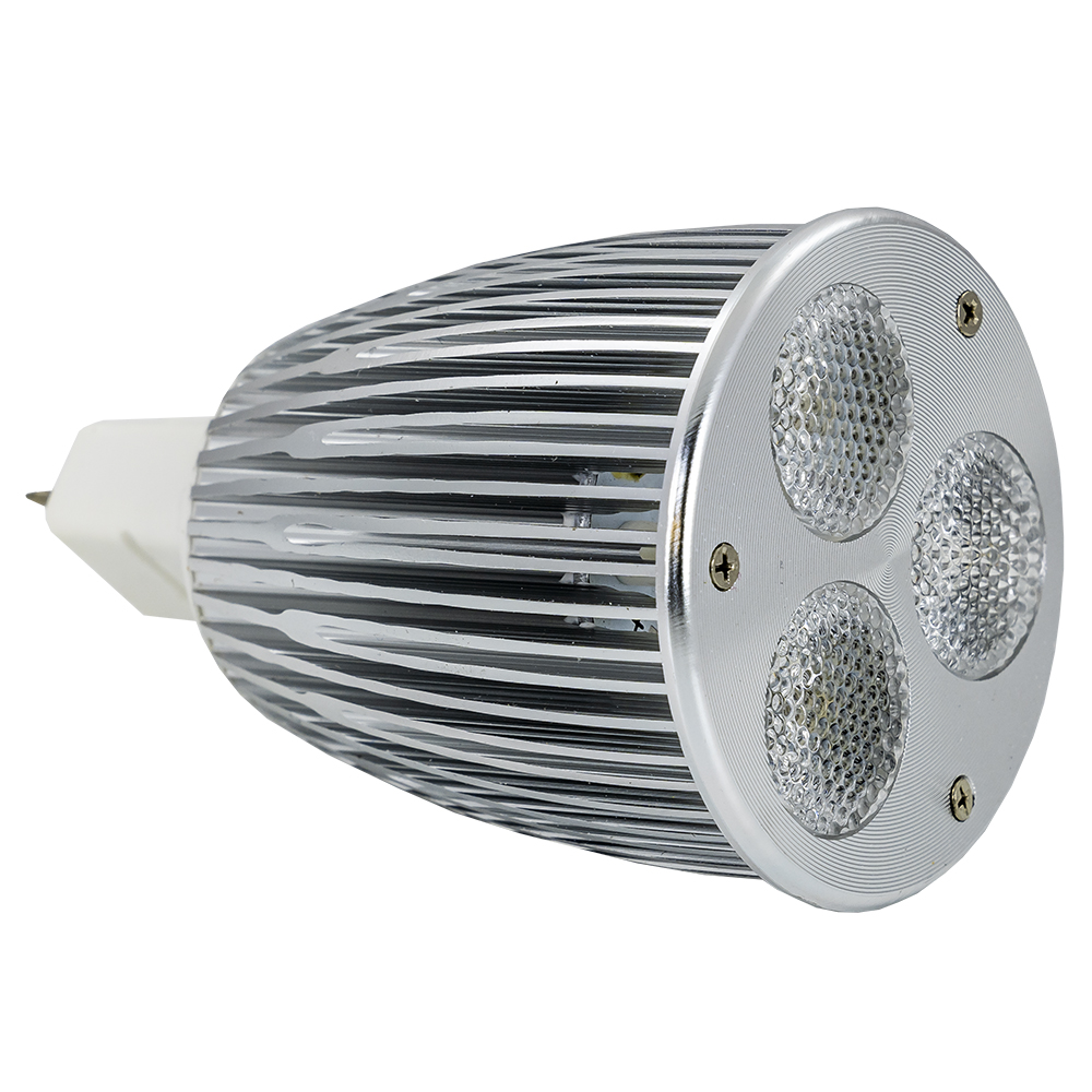 Lampada LED High Power 12V MR16 9W Branco Q. 3000K 60º 400L