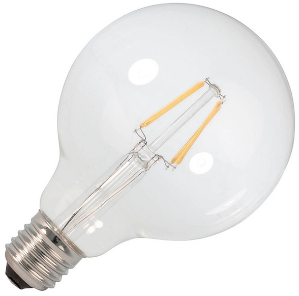 Lampada LED E27 Filamento 220V 6W Branco Q. 3000K 750Lm
