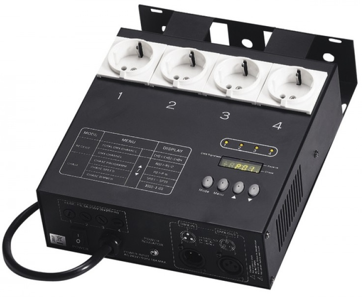 Dimmer DMX com 4 Canais (5A Canal) - ACOUSTIC CONTROL