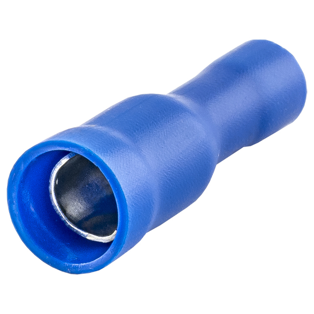 Terminal Redondo 5mm Fêmea Azul