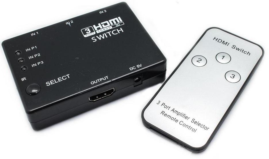 Comutador HDMI Matrix 3 Entradas - 1 Saída c/ Comando - ProFTC