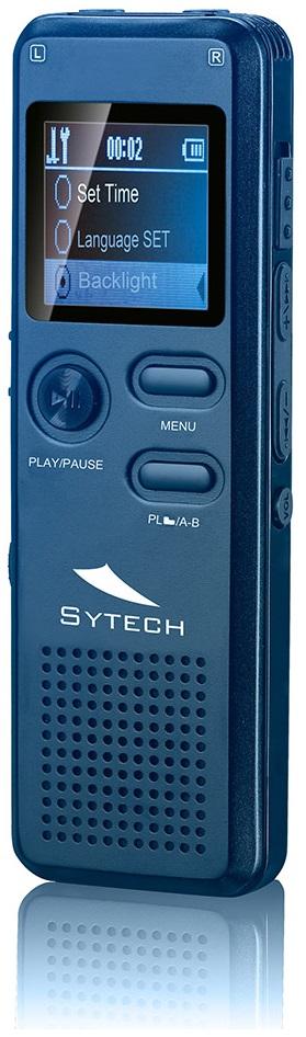 Gravador de Voz Digital 8GB MP3 c/ Ranhura Cartão microSD (Azul) - SYTECH