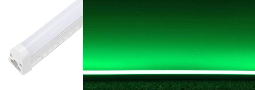 Armadura LED T5 9W 220V 720Lm Cor Verde (60cm)