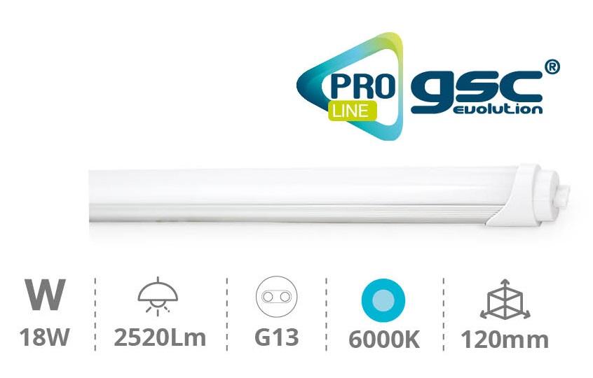 Tubo de LEDs T8 Opalino 220V 18W 6000K 2520Lm (1,20 mts) - PRO LINE