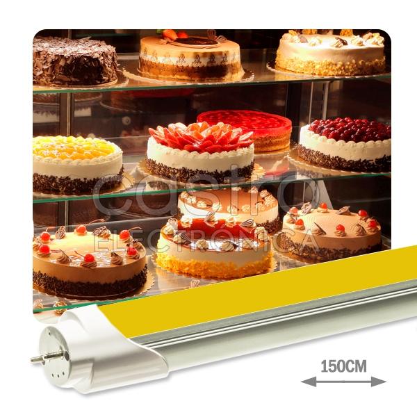 Tubo de LEDs T8 Opalino 1,50 mts 220V 22W Gold (p/ Pastelarias) 2000Lm - ProFTC