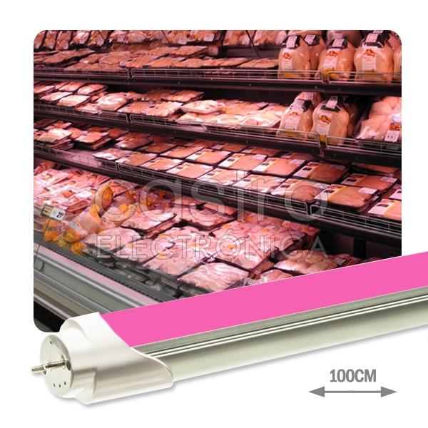 Tubo de LEDs Opalino 1 Metro 220V 16W Rosa (p/ Talho) 1500Lm - ProFTC