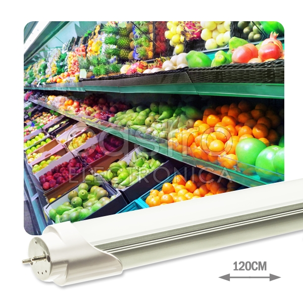 Tubo de LEDs T8 Opalino 1,20 mts 220V 18W Green (p/ Vegetais) 1700Lm - ProFTC