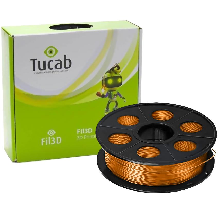 Filamento de Impressão 3D em PETG 1,75mm 1Kg (Laranja) - TUCAB