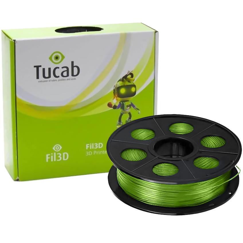 Filamento de Impressão 3D em PETG 1,75mm 1Kg (Verde) - TUCAB