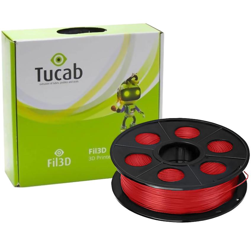 Filamento de Impressão 3D em PLA 4032D 1,75mm 1Kg (Vermelho) - TUCAB