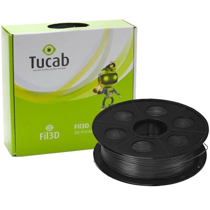 Filamento de Impressão 3D em PETG 1,75mm 1Kg (Preto) - TUCAB