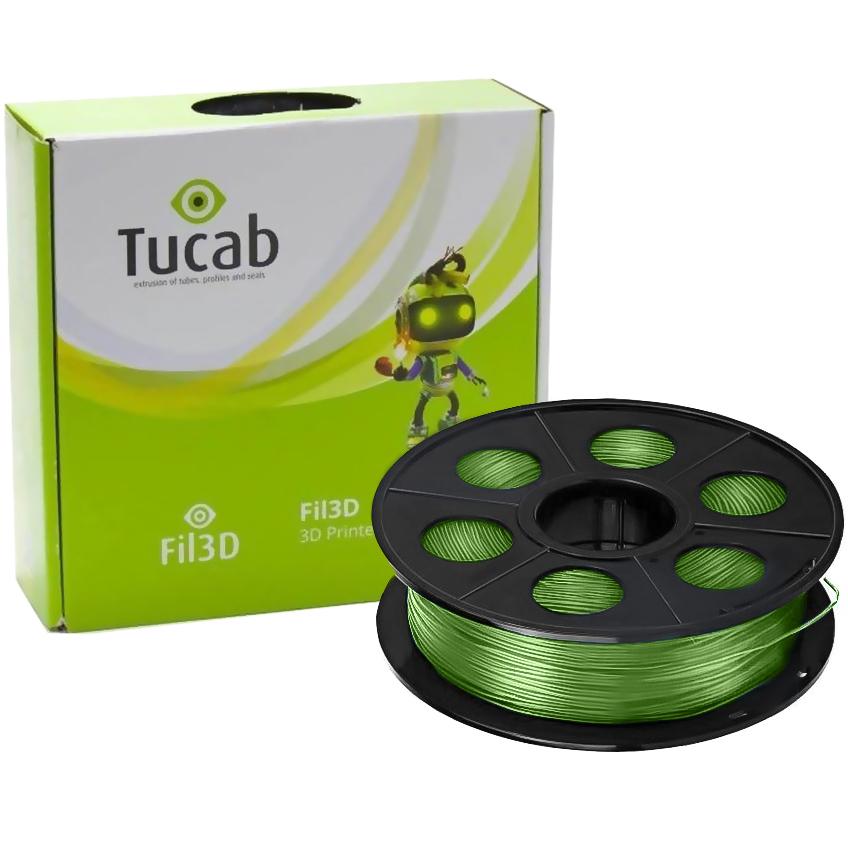 Filamento de Impressão 3D em PETG 1,75mm 1Kg (Verde Translúcido) - TUCAB