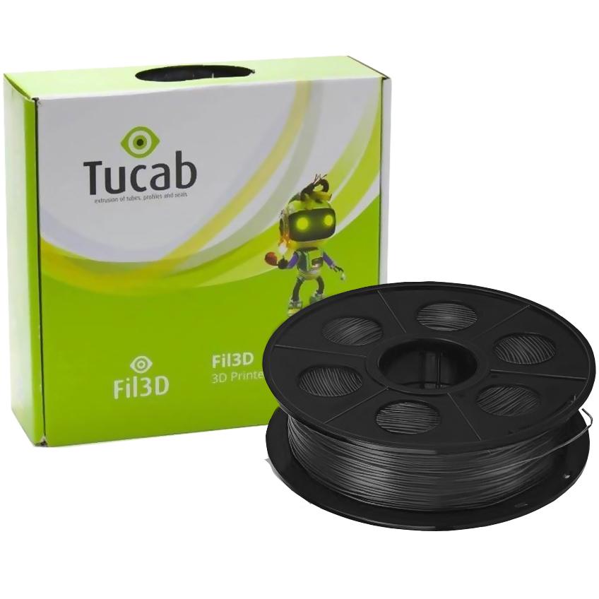Filamento de Impressão 3D em ABS 1,75mm 1Kg (Preto) - TUCAB