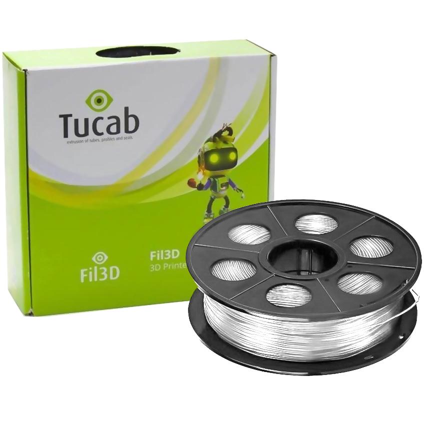 Filamento de Impressão 3D em PLA 4032D 1,75mm 1Kg (Branco) - TUCAB