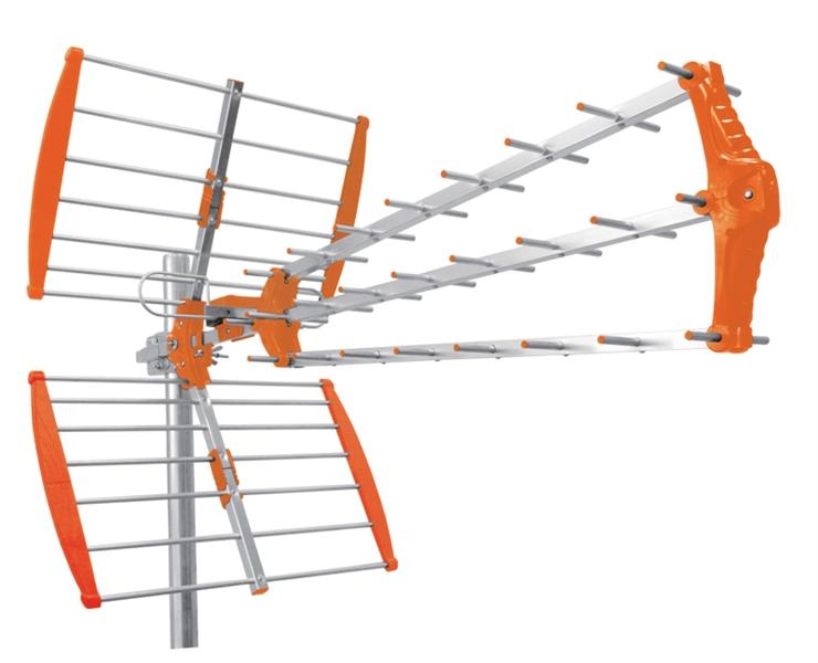 Antena Digital TDT UHF 43 Elementos c/ Ficha F (LTE) - IBEROSAT