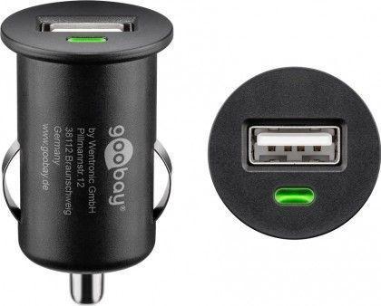 Ficha p/ Auto Isqueiro c/ USB 5V 1A - GOOBAY