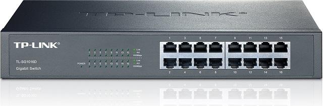 Switch de Rack 19 16P GIGABIT 10/100/1000Mbps - TP-LINK