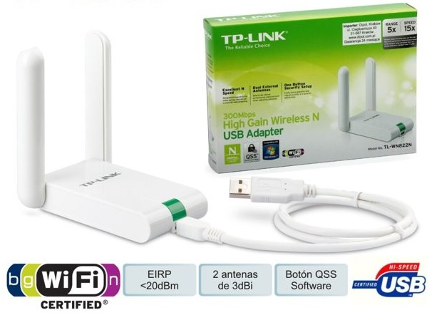 Adaptador USB Wireless N (Alta Potência) 300Mbps - TP-LINK