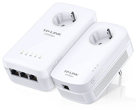 Power Lines Passthroug 3P c/ Acess Point Wireless N 1200Mbps (AV1200) - TP-LINK