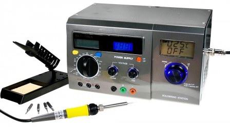 MiniLAB 3-EM-1 (Multi Digital / Fonte Alimentação Bancada / Estação Soldar Dig 40W) - ProFTC