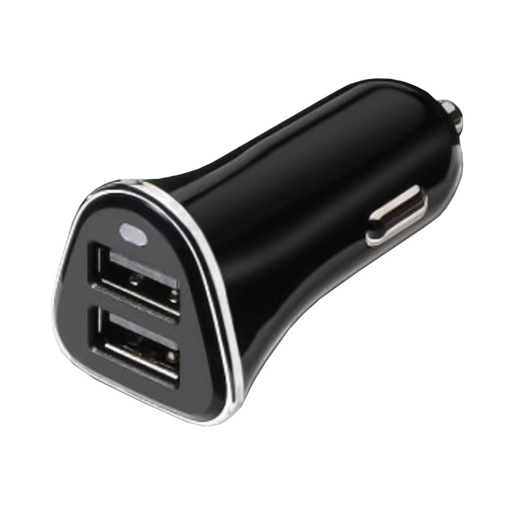 Carregador de Carro 2x USB 5V 3,4A (Preto) - TooQ