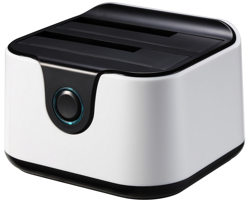Docking Station Dupla USB 3.0 (Branco) - TooQ
