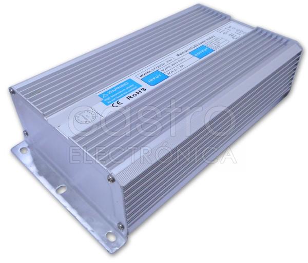 Fonte Alimentação Estanque IP67 24V DC 8,3A 200W c/ Fios