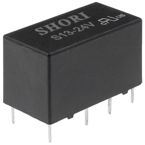 Relé Mini DPDT 24V 2A Duplo - SHORI ELECTRIC S13-24V-2C