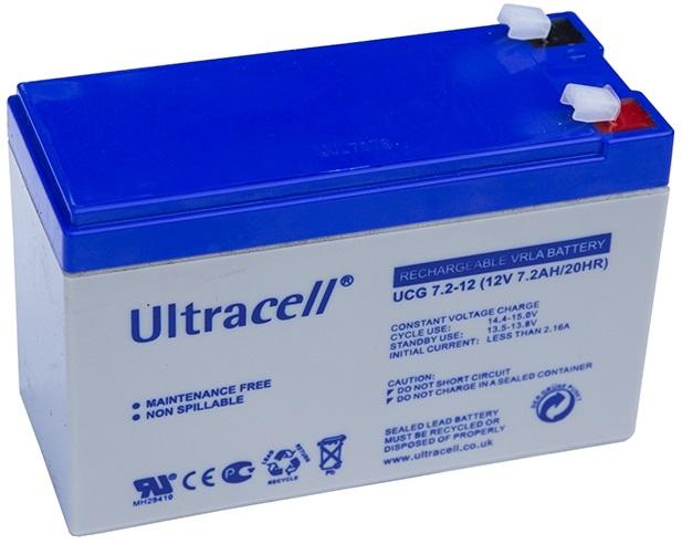 Bateria Gel 12V 7,2Ah (150 x 63 x 95 mm) - ULTRACELL