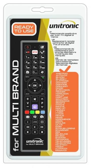 Comando Universal Dedicado p/ TVs LCD Multi-Marcas - UNITRONIC