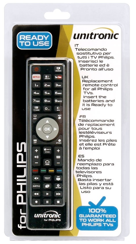 Comando Universal Dedicado p/ TVs LCD PHILIPS - UNITRONIC