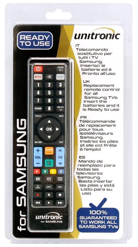 Comando Universal Dedicado p/ TVs LCD SAMSUNG - UNITRONIC