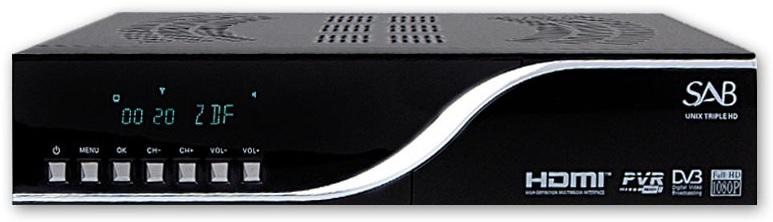 Receptor COMBO HD Ethernet (2x DVB-S2 e 1x DVB-C/DVB-T) - SAB