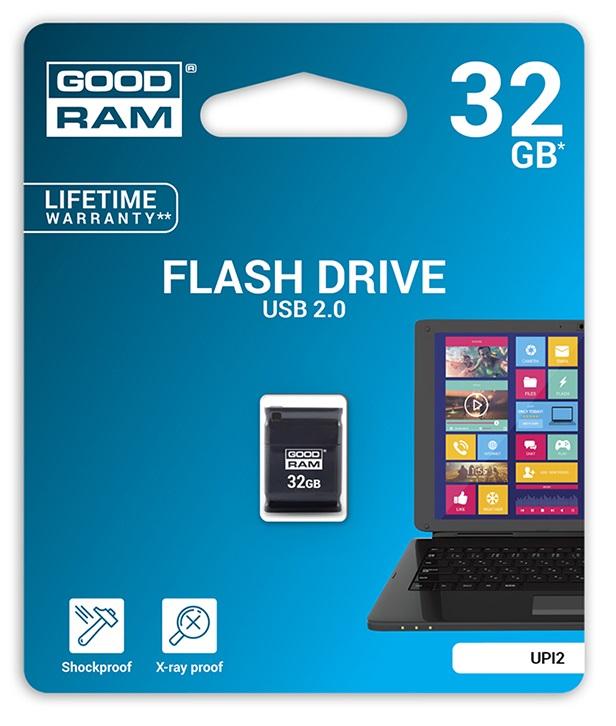 Pen Drive USB2.0 32GB UPI2 (Preto) - GOODRAM