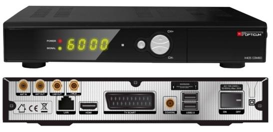 Receptor COMBO Full HD 1080P (Satélite + TDT) - OPTICUM HD X405 Combo