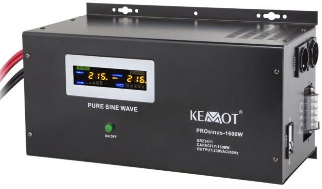Conversor 12V -> 220V 1600W (ONDA PURA) Estabilizador Tensão c/ Função Carregamento Bateria- KEMOT