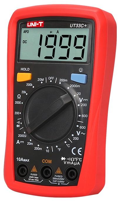 Multimetro Mini Digital CAT ll 600V (UT33C+) - UNI-T