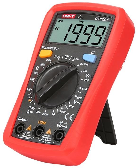 Multimetro Mini Digital CAT ll 600V (UT33D+) - UNI-T