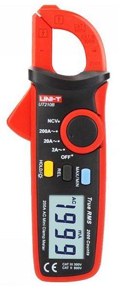 Pinça Amperímétrica Digital AC 200A True RMS - UNI-T