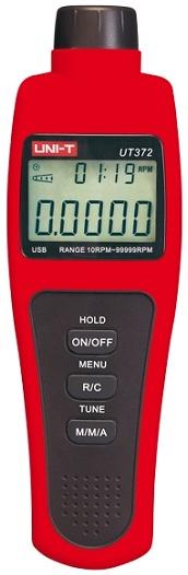 Tacómetro Digital 10 ~ 99999 RPM c/ Interface USB - UNI-T