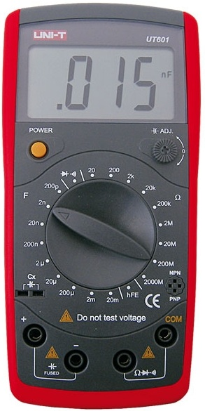 Capacimetro e Ohmimetro Digital - UNI-T