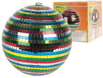 Bola de Espelhos Colorida (30cm)