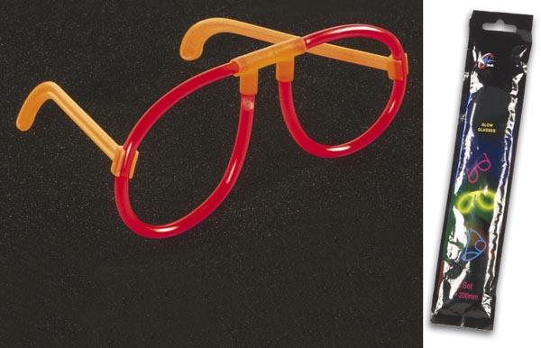 Óculos Maleáveis Luminosos (LIGHT STICK) - Vermelho