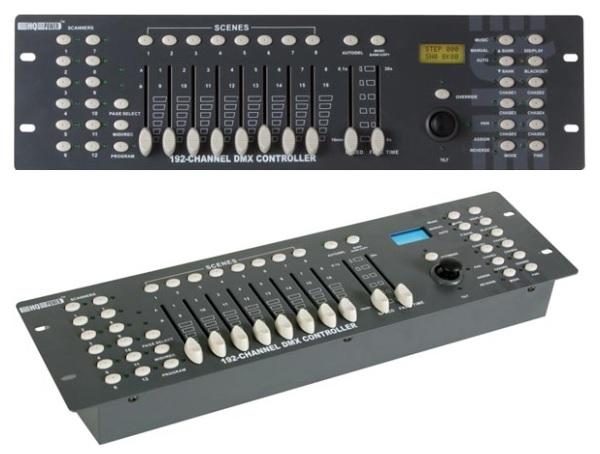 Controlador DMX c/ Joystick 192 Canais - HQ POWER