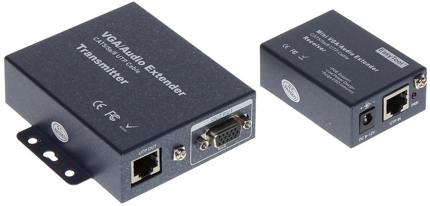 Extensor VGA + Audio via UTP RJ45 até 140 mts - ProFTC