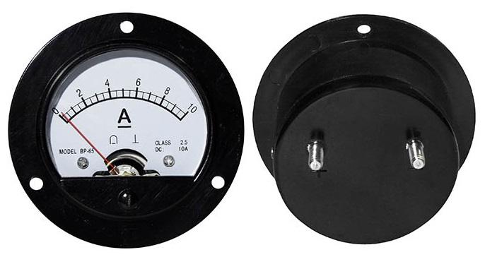 Amperímetro Redondo de Painel 10A DC - ProFTC