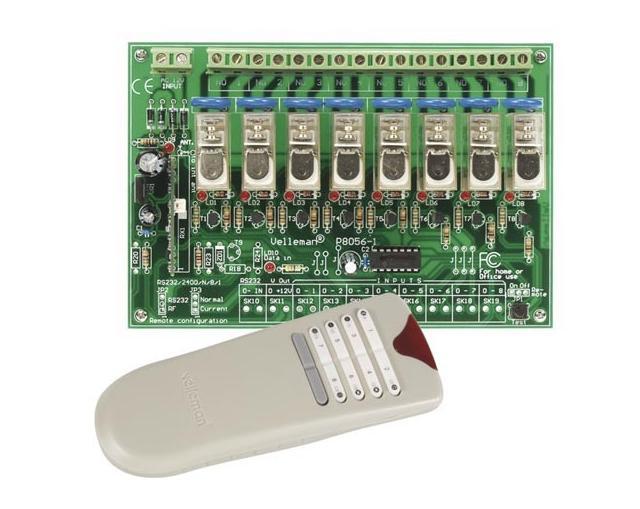 Módulo Sistema de Controlo Remoto RF de 8 Canais - VELLEMAN